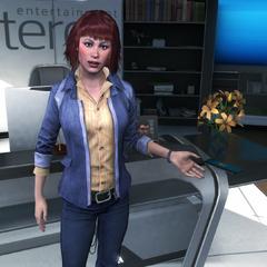 梅兰妮在办公室会见喜力克斯研究分析员