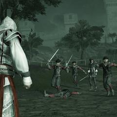 Ezio confronteert Vieri en zijn mannen.