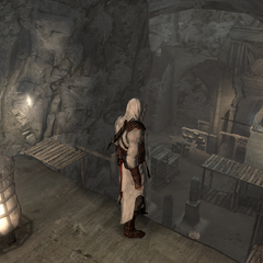 Altaïr at the top of the side chamber