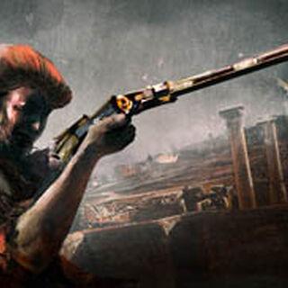 加斯帕尔使用火绳枪瞄准