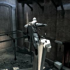 Ezio traversant la cale sèche