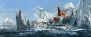 ACRogue relitto tra i ghiacci concept art