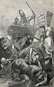 The great Sesostris (Rameses II) in the Battle of Khadesh