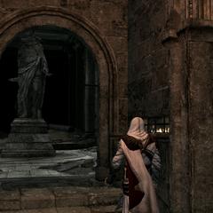 Ezio s'approchant de la salle aux statues