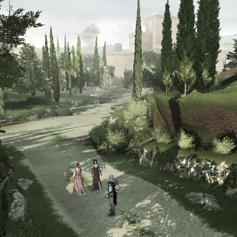 Ezio et sa famille quittant Florence