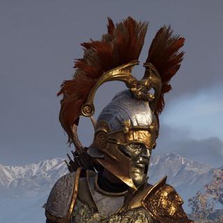 卡珊德拉穿着阿伽门农的盔甲