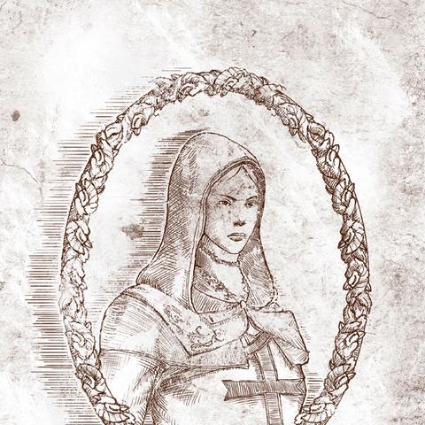 Maria getekend door Altaïr.