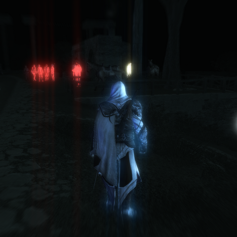 Ezio localisant le surveillant