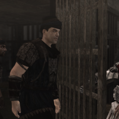 Ezio libérant les mercenaires