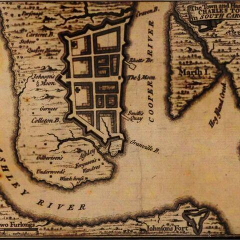 查尔斯顿的地图
