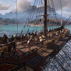 <i>阿德瑞斯提亚号</i>的甲板