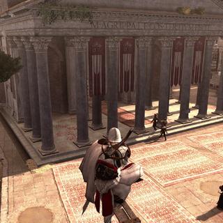 埃齐奥看见埃吉迪奥被送到了万神殿