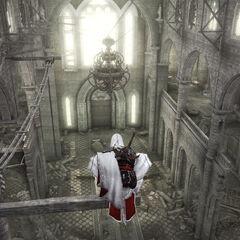 Ezio à l'intérieur du <a href=