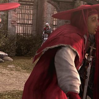 Ezio faisant face à Cesare