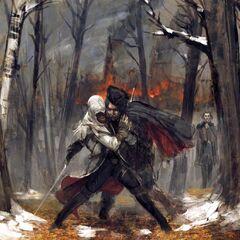 Concept de la mort d'<b>Haytham</b> face à son fils