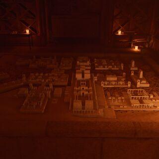 图特摩斯墓中的阿顿城沙盘