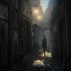 A Templar in a Parisian alley