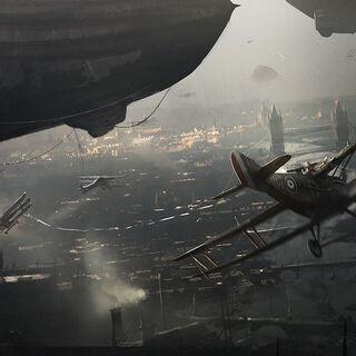 伦敦上空的战斗机