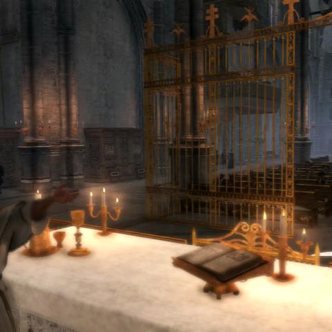修道院的内部