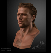 New engine male face model test by Michel Thibault