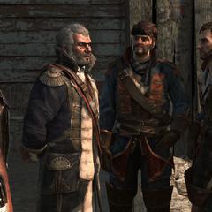 罗杰斯和张伯伦会见海盗们