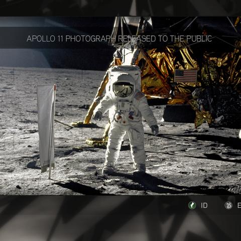 官方发布的巴兹·奥尔德林在月球上的照片