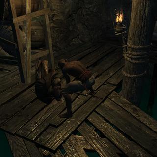 Edward assassinant le contrebandier