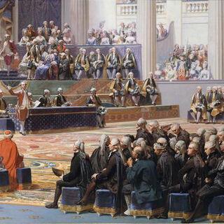 油画三级议会开幕现场