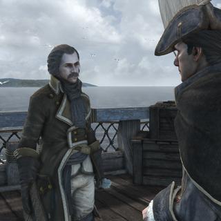 萨缪尔正在与海尔森交谈