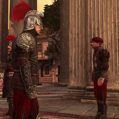 Les gardes attendant Luigi devant le Panthéon