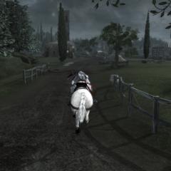 埃齐奥骑马穿过罗马涅郊外
