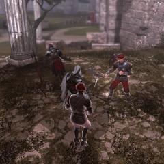 埃齐奥与圣宫之主的手下战斗