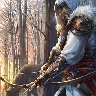 一名带着弓箭的蒙古刺客