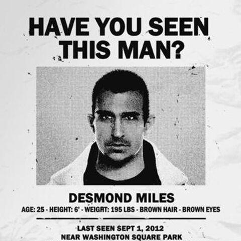Avis de recherche pour Desmond