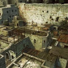耶路撒冷贫民区的概念艺术画
