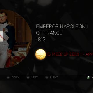 拿破仑握着上衣中的苹果