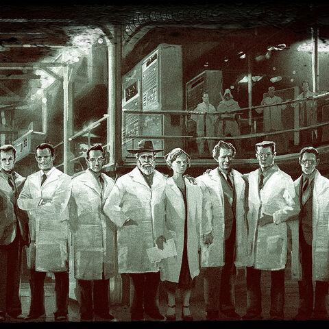 Photo d'un groupe d'Assassins scientifiques, avec <strong class=