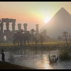 金字塔和尼罗河