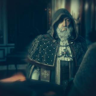 拉法叶在圣殿骑士组织入会仪式中