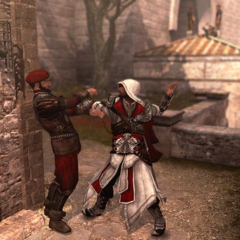 Ezio assassinant le second garde