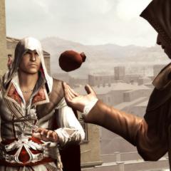 La Volpe rendant sa bourse à Ezio