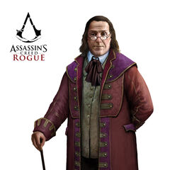Concept art of Franklin's appearance in <i>Rogue</i>