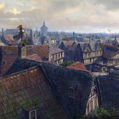 Elise sur les toits de Paris