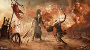 Bayek fighting Rameses