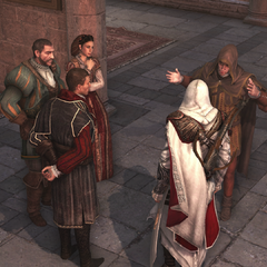 Niccoló speaking with the guild leaders