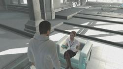 Desmond Lucy parlano laboratorio Abstergo 2