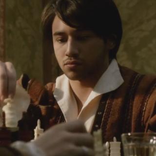 Federico schaakt met Ezio.
