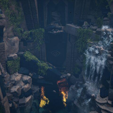 岛屿中央的大洞窟