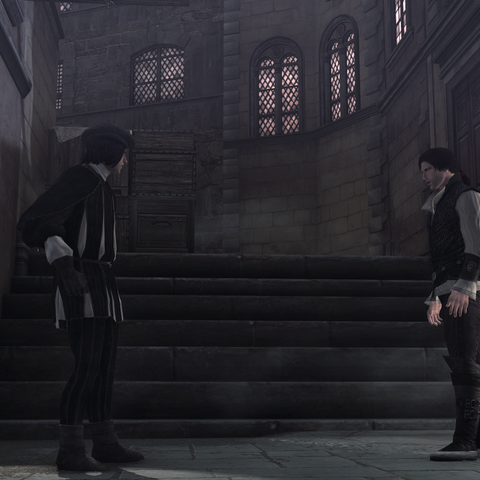 Ezio faisant face à Vieri
