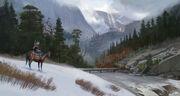 ACOD Greek Winter landscape Concept Art
